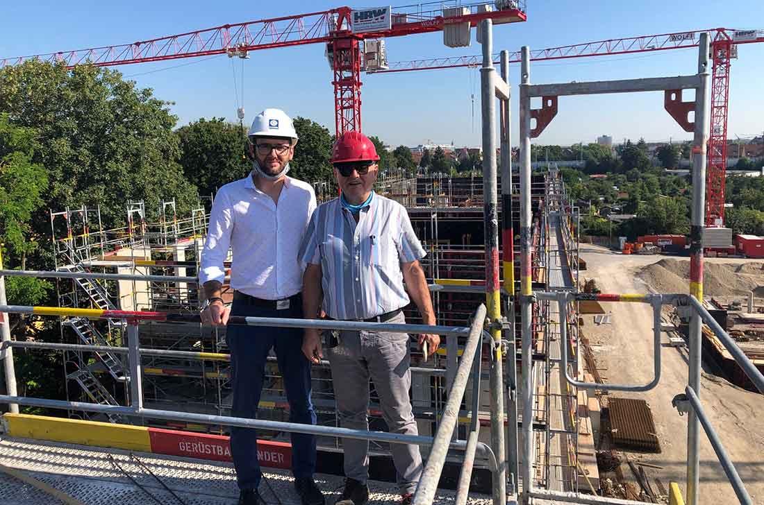 Baustellenbesichtigung Augsburg